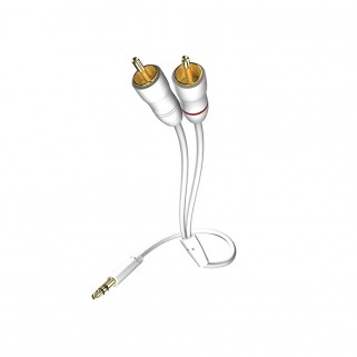 Кабель Inakustik Star 3,5mm Mini Jack-2 x RCA white 0,75m