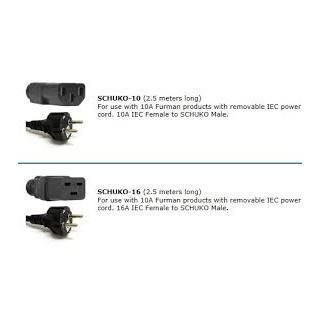 Сетевого кабеля Furman SCHUKO-16