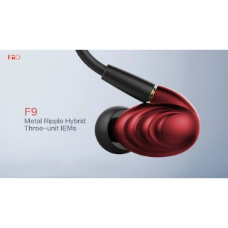 FIIO F9SE In-Ear hybrid headpnones Red
